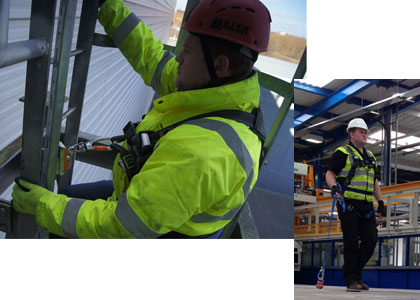 About Us   Safety at Height - Fall Arrest Protection Systems