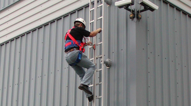 Fall Arrest Protection Equipment Access Ladder